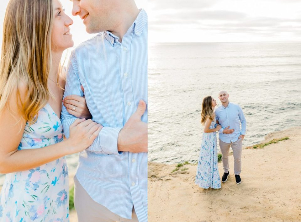 beautiful engagement session at sunset cliffs in san diego