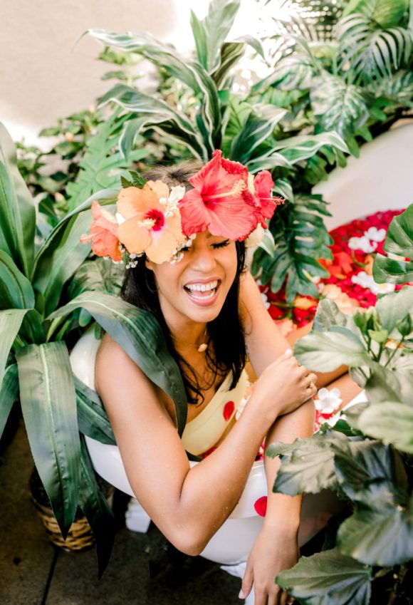 San Diego Floral Tub Sessions | Vanessa Hicks Photography