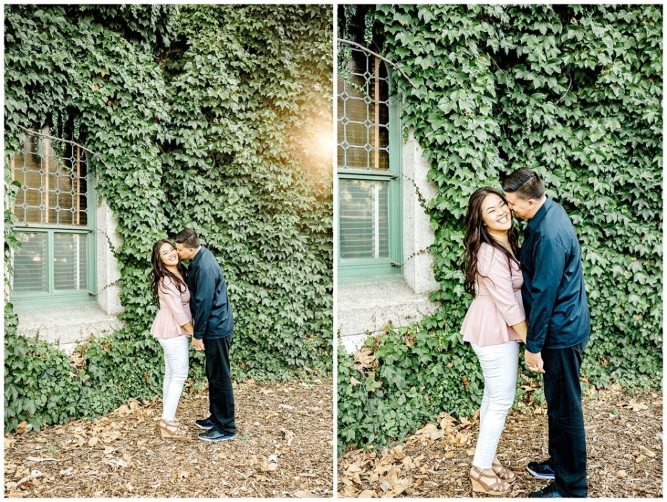 ivy wall engagement session