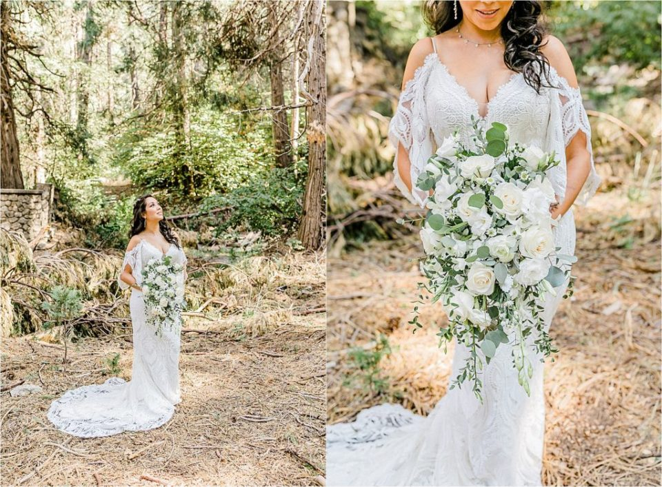 bridal portraits in forest