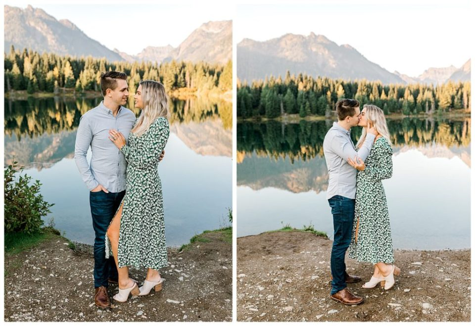 beautiful engaged couple in seattle