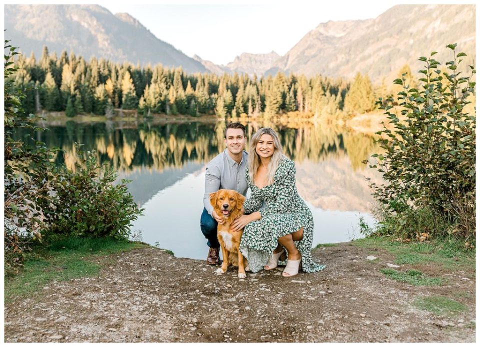 picture perfect engagement session with puppy