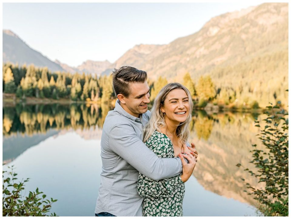 seattle engagement session on a lake