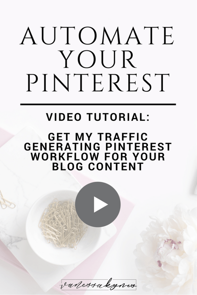Do you want to drive more traffic to your blog using Pinterest? In this video tutorial, I am sharing my exact Pinterest workflow to automate your traffic-generating Pinterest marketing strategies! Save time and grow your blog through the exponential power of Pinterest! #pinteresttips #pinterestmarketing #bloggingtips #productivity