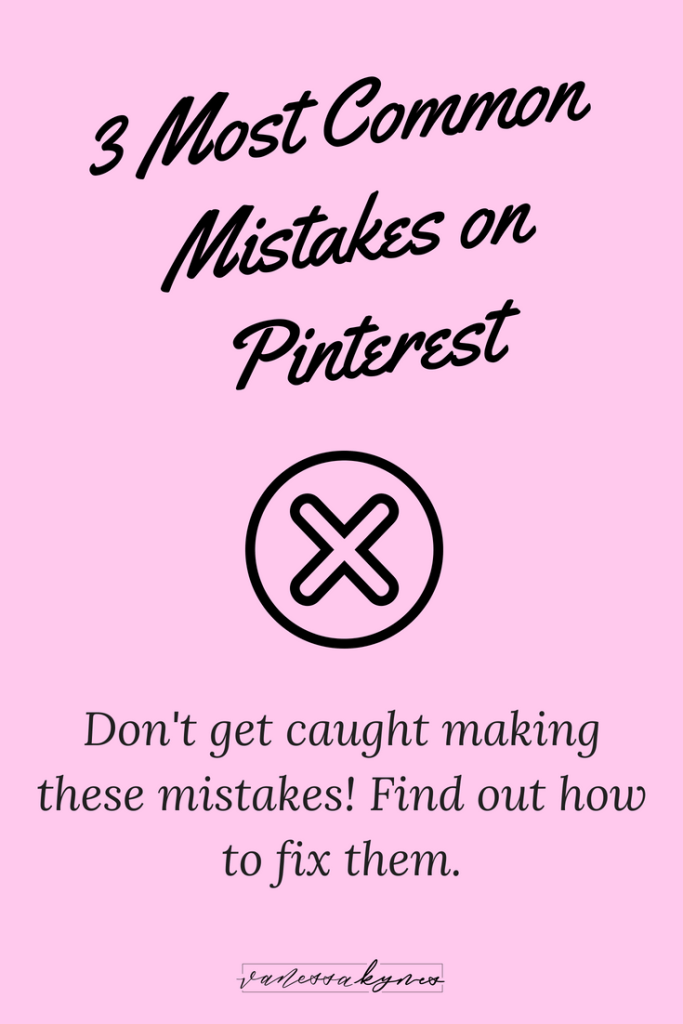 Are you making these 3 common mistakes on Pinterest? Pinterest marketing isn't rocket science, but it can be tricky to get started. Don't make these mistakes—make sure that you are optimizing your images, using keywords correctly and staying consistent to get the most results using Pinterest!