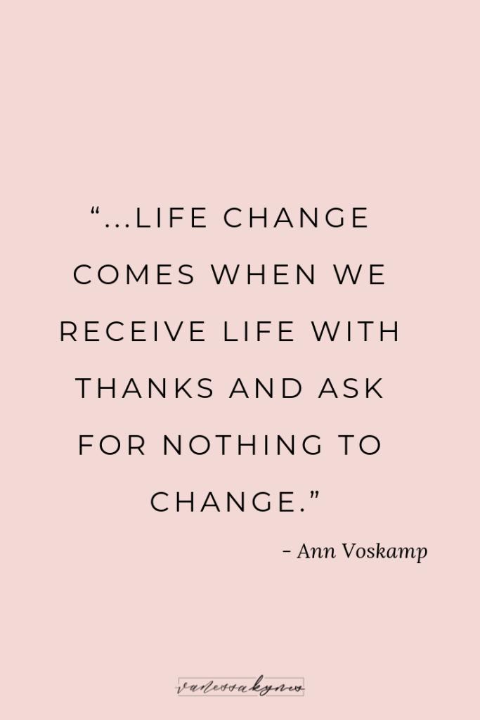 Ann Voskamp and Gratitude- Vanessa Kynes