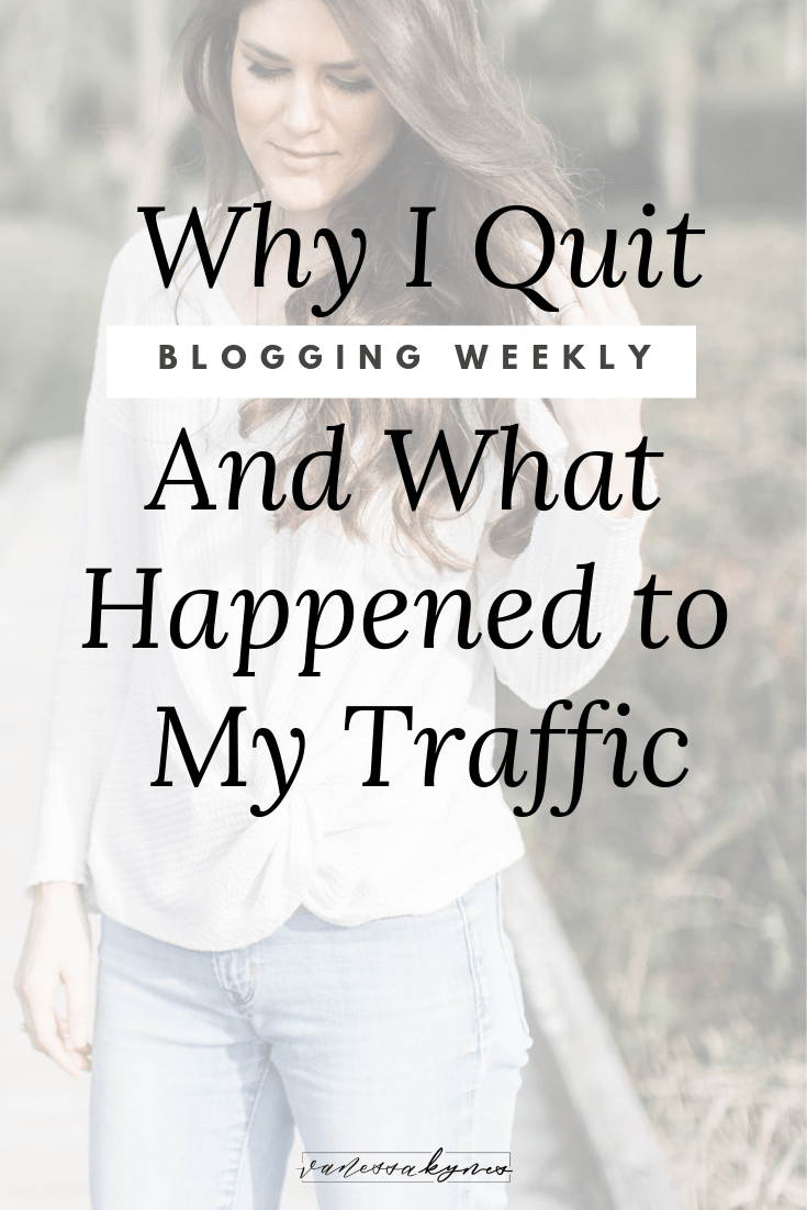 Why I quit blogging weekly - Vanessa Kynes