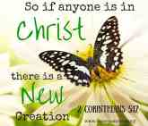 So if anyone is in Christ, there is a new (4)