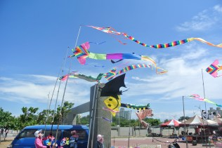 More than enough wind for the kites