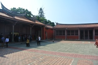 The courtyard of the temple