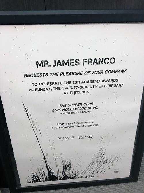 mr brainwash anonymous oscar invitation for james franco party