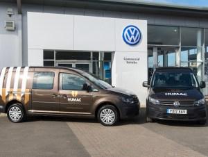 New Caddy Maxi Kombis at VW Hull for Humac