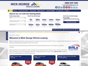 Mick George leasing website