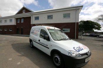 James Frew liveried van