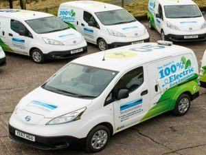 Yorkshire Water has deployed 10 Nissan e-NV200 electric vans