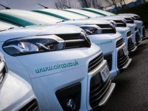 Airco specified Comfort grade medium-wheelbase Proace vans for its engineering team.