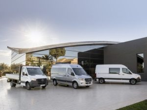 The new Mercedes-Benz Sprinter introduces front-wheel drive and new connectivity options as well as an electric version from 2019.