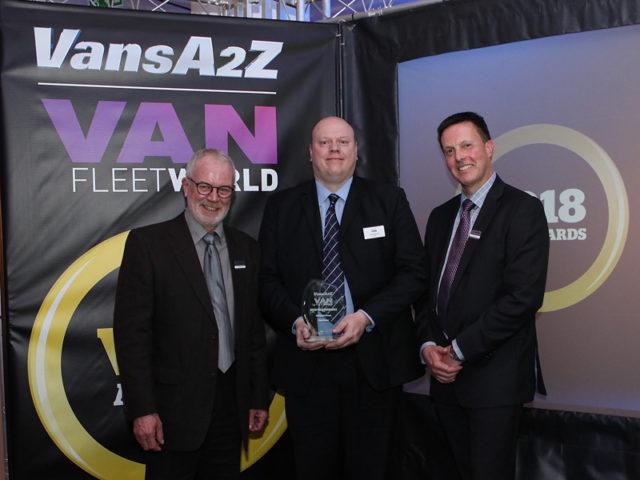 Lloyd Bonson picks up the award for Best Light Truck, with Neil McIntee (left) and Dan Gilkes (right)