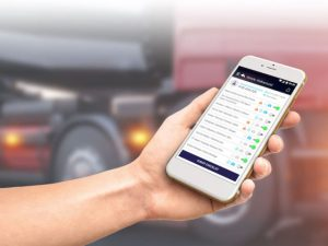 The app supports fleets with reporting and compliance requirements.