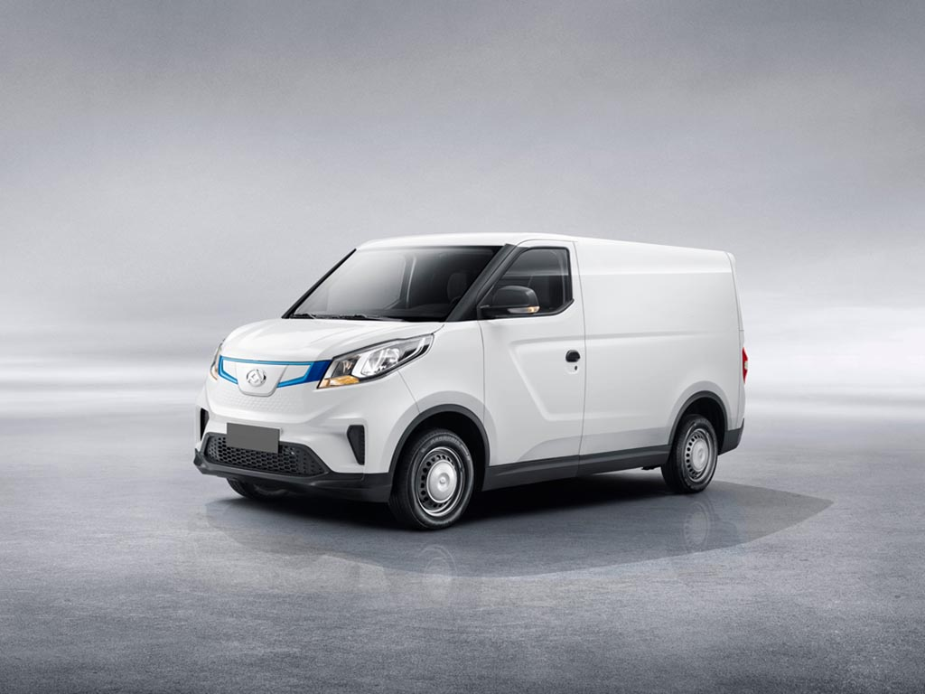 The new electric-only Maxus e Deliver 3 is available with two battery sizes, and up to 150-miles range