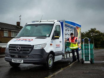 With more than 4,000 new drivers, training has become an important focus for Tesco but it cannot spare its refrigerated fleet due to high customer demand