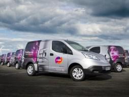 Mitie's first electric vans