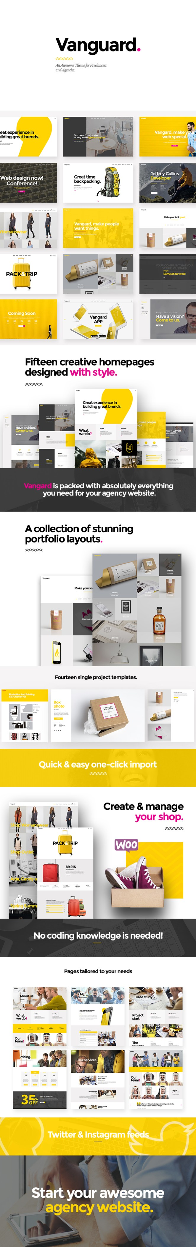 Vangard - A Theme for Freelancers and Agencies - 1