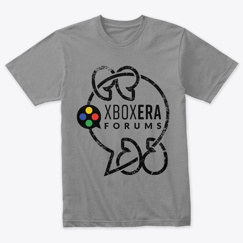 Xbox Era Forum Black Premium Heather T-Shirt Front