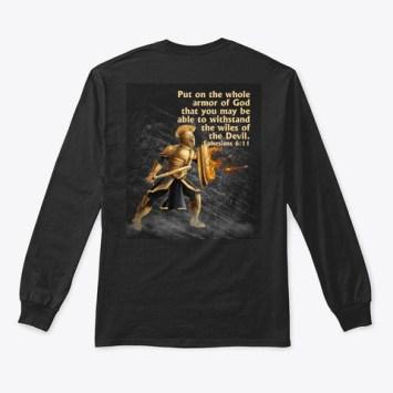 Armor Of God Black T-Shirt Back