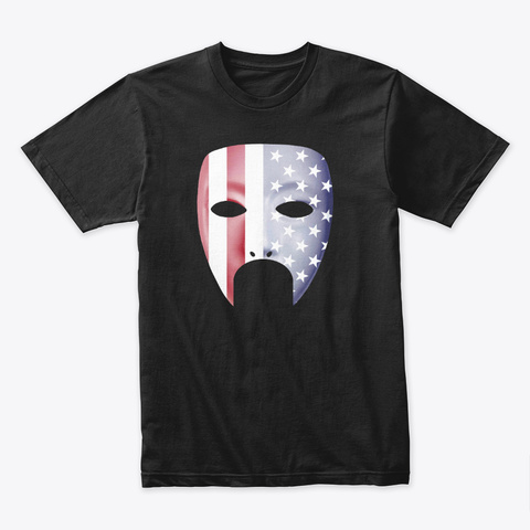 The Masked Nationalist Black T-Shirt Front
