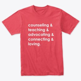 School Counseling & Tee Vintage Red T-Shirt Front
