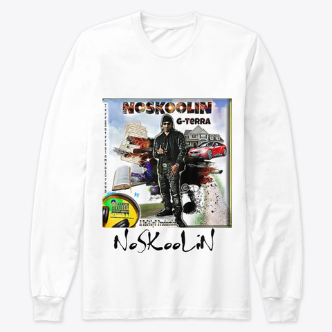NoSKooLiN Merch (Pack) White T-Shirt Front