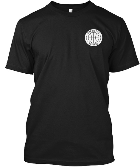 One On One Signature Tee Black T-Shirt Front