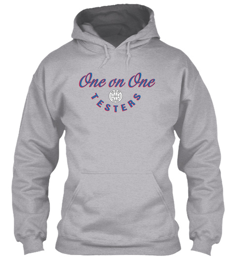 'vintage' One On One Hoodie Sport Grey Sweatshirt Front