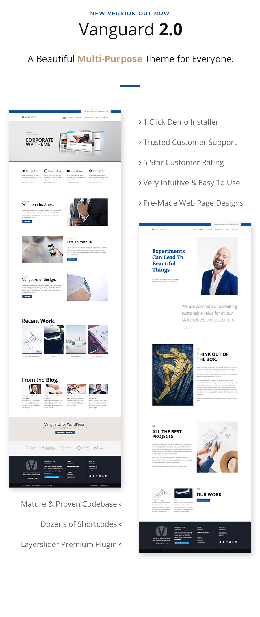 Vanguard: Business & Portfolio WordPress Theme - 1