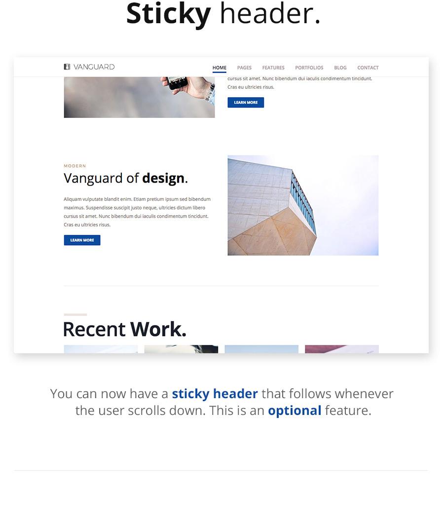 Vanguard: Business & Portfolio WordPress Theme - 3