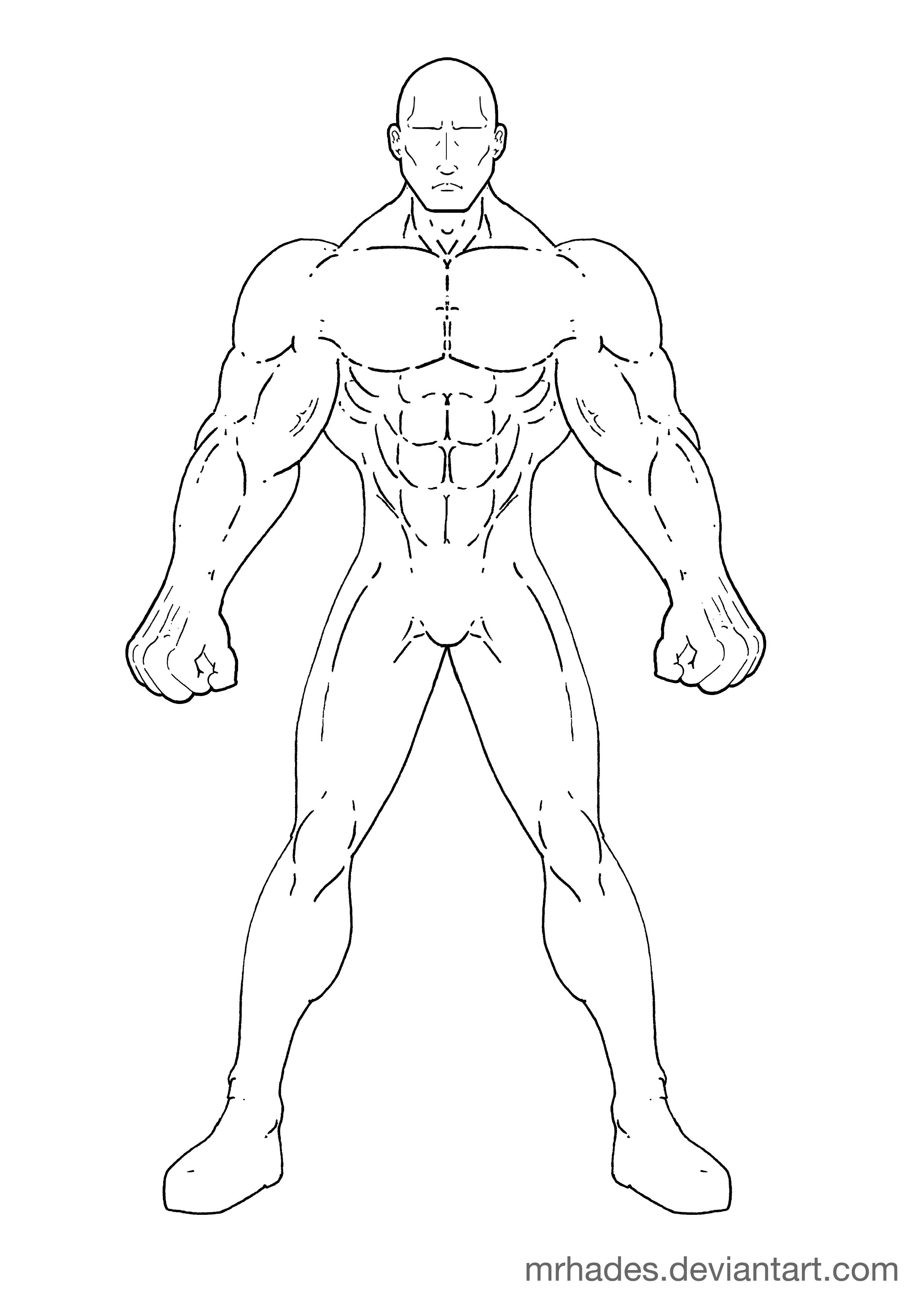 Muscled Man Template Vanguard