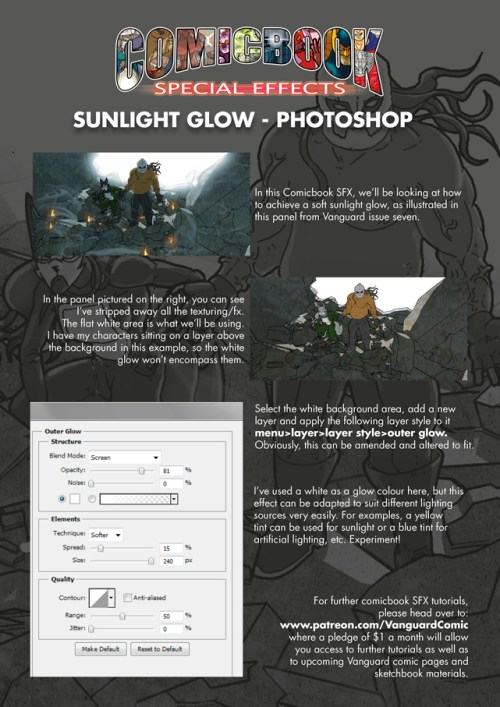 Comic book SFX 01 sunlight glow