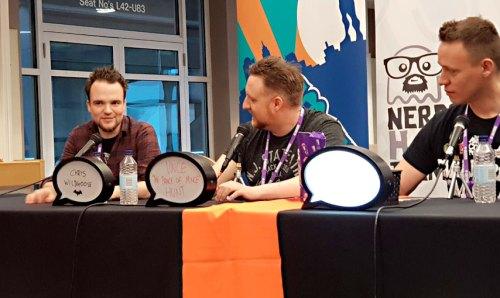 awesome comics podcast panel christian wildgoose vince hunt dan butcher