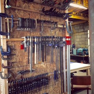 Erre's two decades as a construction worker have given him the dexterity to work with just about any material. His studio is filled with tools necessary to undertake most project.