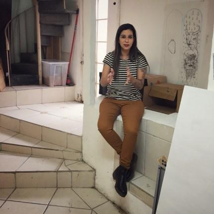 Panca in her studio