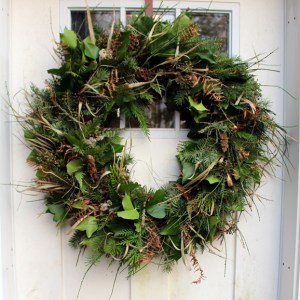 handmade local wreath