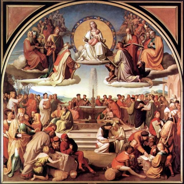 Friedrich Overbeck, Triumph der Religion in den Kunsten of Das Magnificat der Kunst (1828-1840).