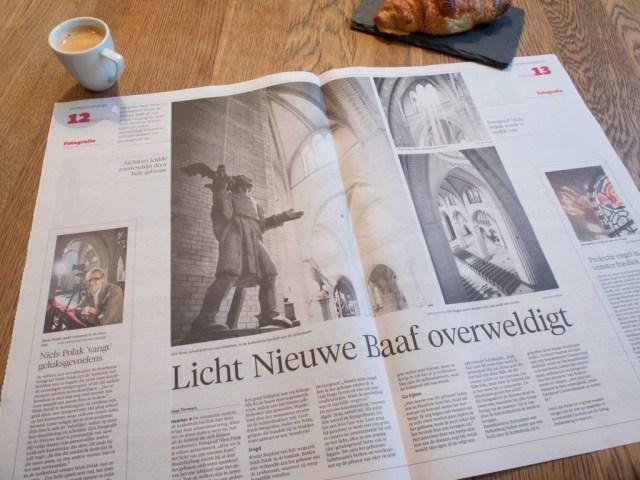Bundels licht: Niels Polak en Josehp Cuypers in de nieuwe Bavo.