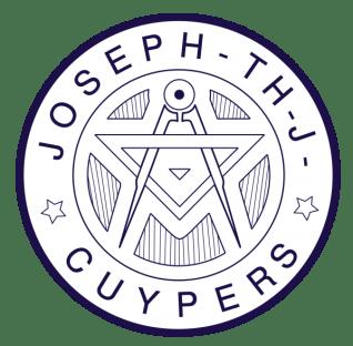 Het architectenstempel van Joseph Cuypers (Herkomst: Gemeentearchief Roermond; gevectoriseerd door wolthera.info).