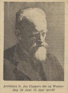 Joseph Cuypers 75 jaar, artikel De Tijd 9 juni 1936, herkomst Delpher.
