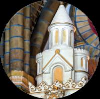 Tempel op Maria-altaar nBavo