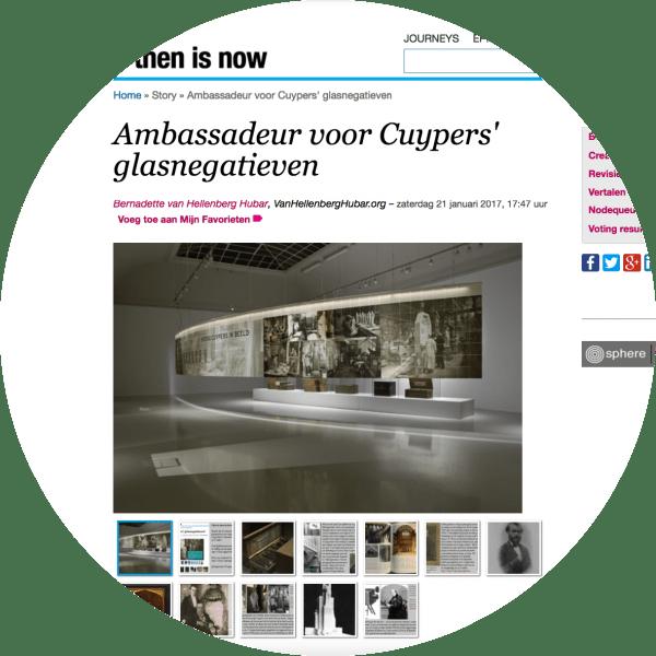 Ambassadeur voor Cuypers' glasnegatieven op ifthenisnow.eu. Screenshot bvhh.nu 2017.