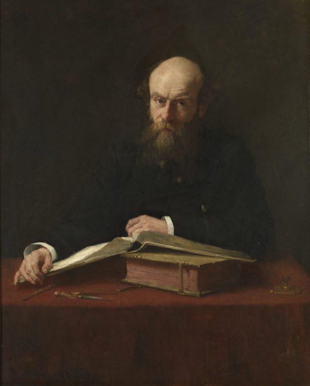 Pierre J.H. Cuypers (I) door Thérèse Schwartze (1885-1909). Herkomst en verblijfplaats Rijksmuseum.