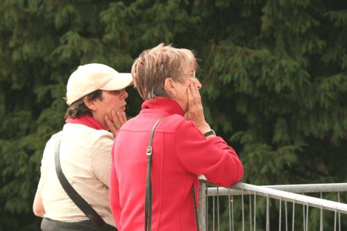 Bernadette van Hellenberg Hubar & Annelei Engelberts in Soissons (2009). Foto Poul de Haan.